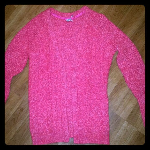 Aeropostale Aero Hot Pink Cardigan Sweater Small Super bright & warm cardigan from Aero. It has an oversized fit so it could fit an M as well.. In like new condition! Aeropostale Sweaters Cardigans
