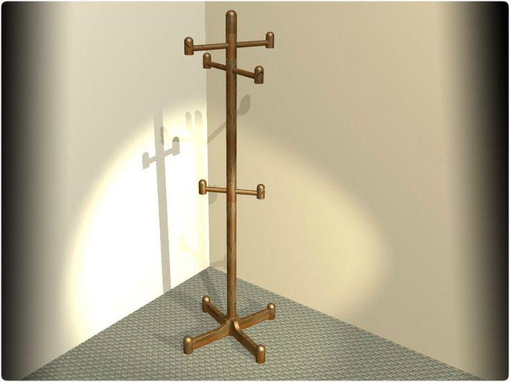 Dřevěný věšák - KeyCreator, STEP / IGES, Autodesk Inventor - 3D CAD model - GrabCAD