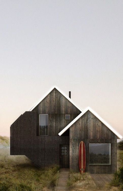 Amazing Beach House in dark stained wood