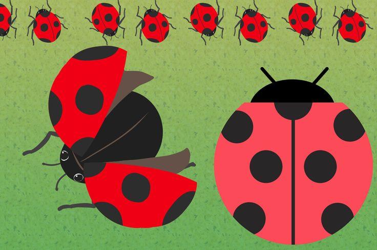 てんとう虫イラスト:とっても可愛いてんとう虫のイラストが無料!手描きのてんとう虫から、水彩風、ベクター風など鮮やかな赤色に黒い点の可愛いテントウ虫を装飾にデザインにフリーで使えます。