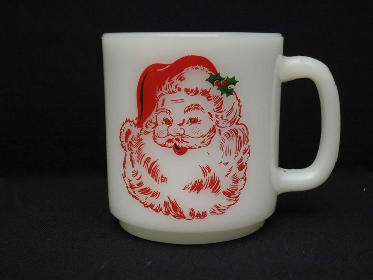 1950's Santa Claus Christmas Mug. (I have a huge collection of milk glass mugs, but I don't have this one yet).