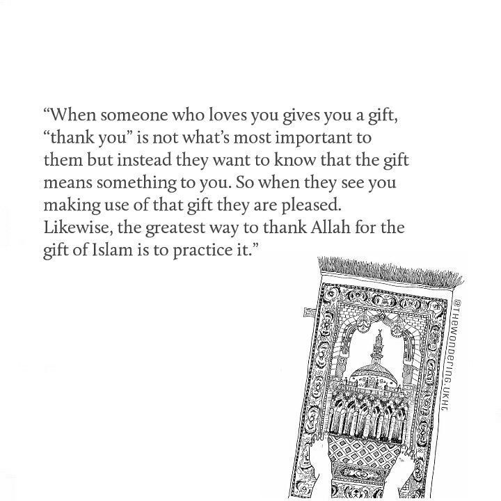 Use the gift that Allah blessed us with... ISLAM!
