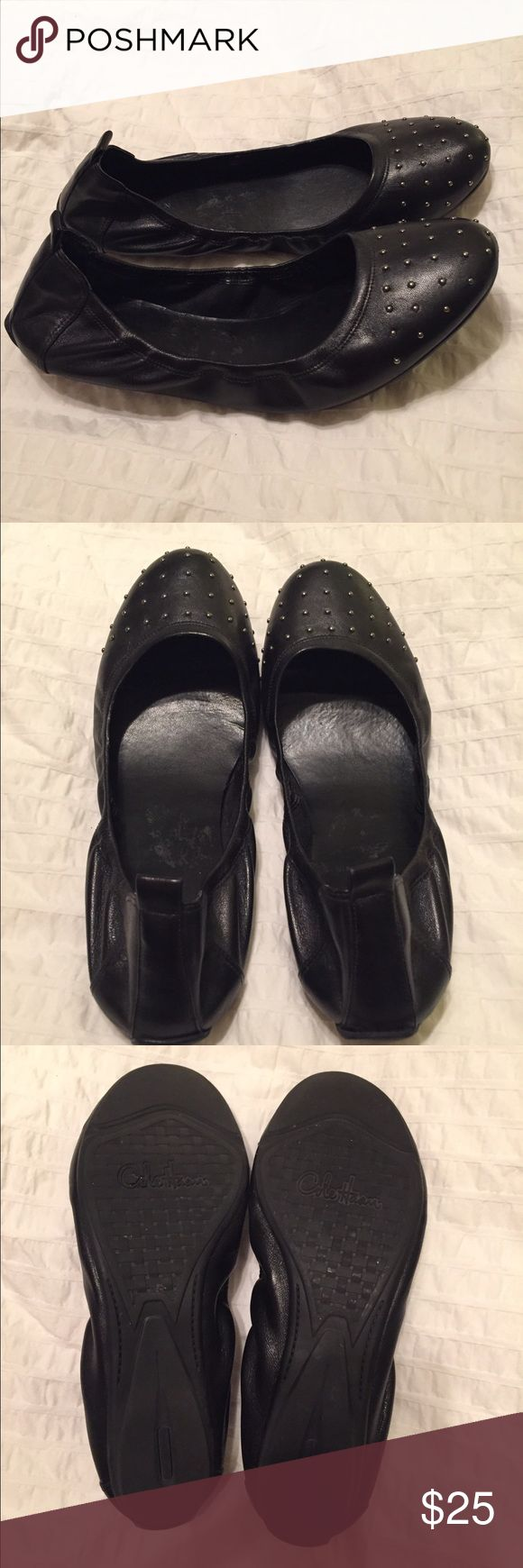 Cole Haan Ballet Flats Cole Haan studded ballet flats. Only worn a few times. Some wear on the inside of both shoes (shown in photos), mostly from the store's tags. Soles in great condition! Cole Haan Shoes Flats & Loafers