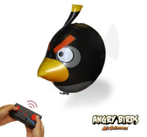 Angry Birds Air Swimmers Turbo - Flying Remote Control Balloon Toy - Black Angry Bird by William Mark. $25.25. The Air Swimmers Turbo Remote Controlled Flying Bird - Angry Birds uses advanced, patented Air Swimmers technology, you can bring the magic of Angry Birds to life! Air Swimmers Extreme Turbo glide through the air and fly over an hour on a single charge for long-lasting remote control indoor fun, even in the smallest rooms. The convenient Auto Swim mode...