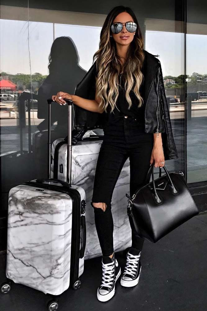 Airplane Outfits Ideas: How to Travel in Style ★ See more: http://glaminati.com/airplane-outfits-ideas/