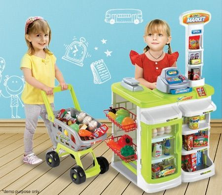 Pretend Play Multi-functional Supermarket