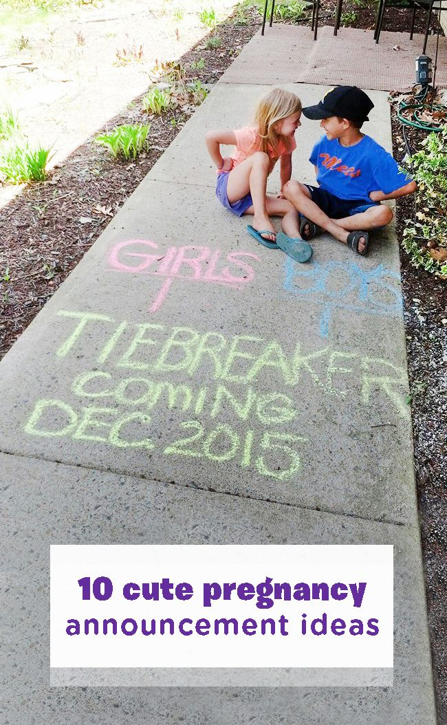 If you're going to have another kid, you might as well have a little fun with it! Tell the world you're expecting again with one of these 10 fun and creative pregnancy announcement ideas. Include your hubby for some added humor or let the future big brother and sister in on the fun—just be sure to capture the crazy with whatever you do!