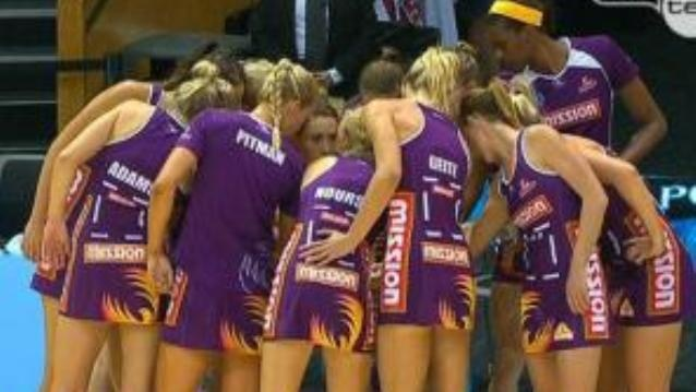 The Queensland Firebirds have finally found their spark, thrashing New Zealand's Central Pulse 58-32 to claim their first win in the trans-Tasman netball championship for 2012.