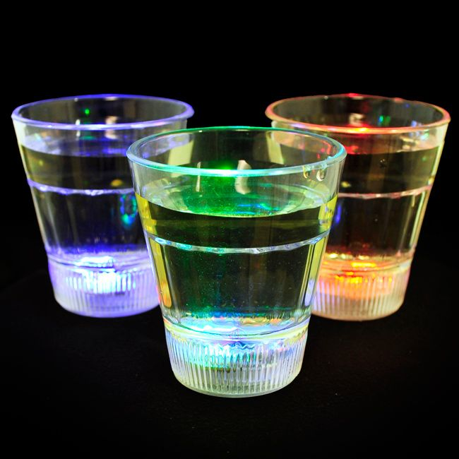 This set of 12 light-up shot glasses will turn your party into a memorable one. The acrylic glasses are equipped with transitional LED lights, making them turn colors at the push of a button. It's a great set for a celebration with friends or family.