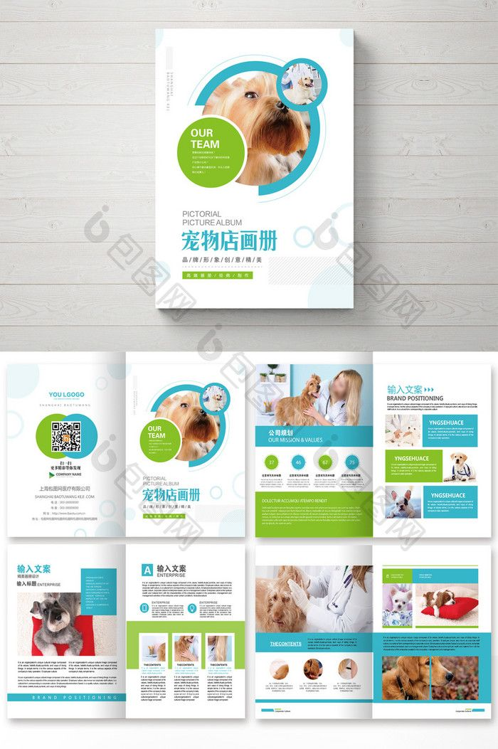 Simple And Fresh Set Of Pet Shop Brochure Panfleto Ideias