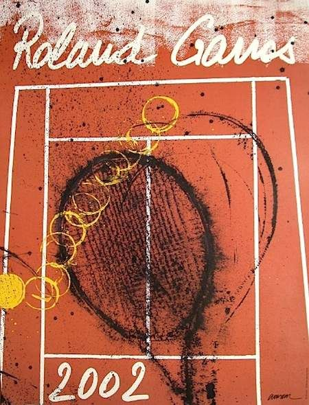 Official Roland Garros 2002 Poster - Artist: Arman