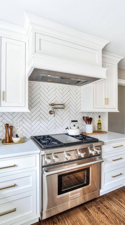 Kitchen Backsplash Ideas White Cabinets In 2020 Kitchen Remodel Small Kitchen Backsplash Designs Kitchen Remodel