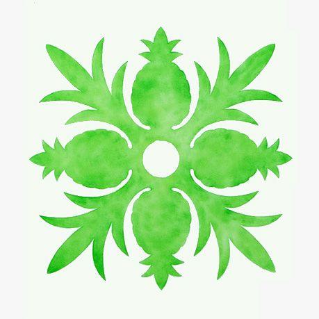 Hawaiian Pineapple Quilt Pattern Stencil 29.00