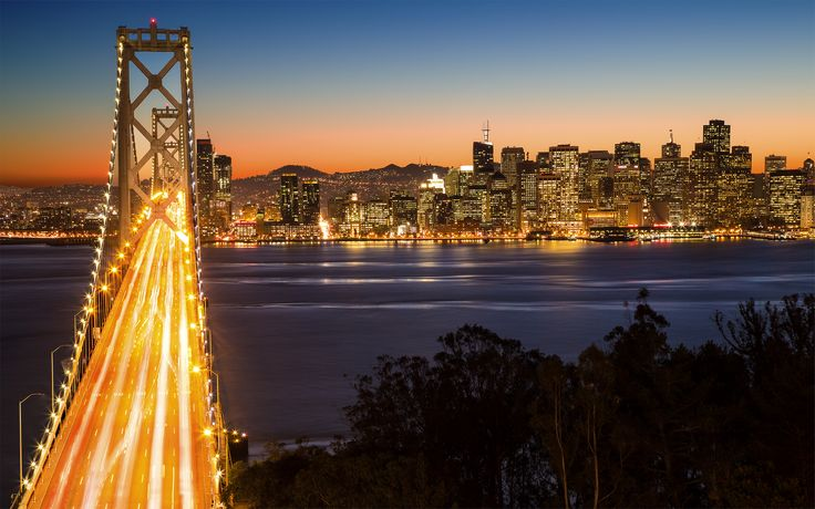 SanFran at night - by photodim   #wallpapers
