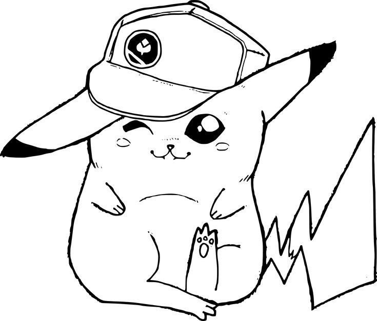 Épinglé sur Coloriage pikachu