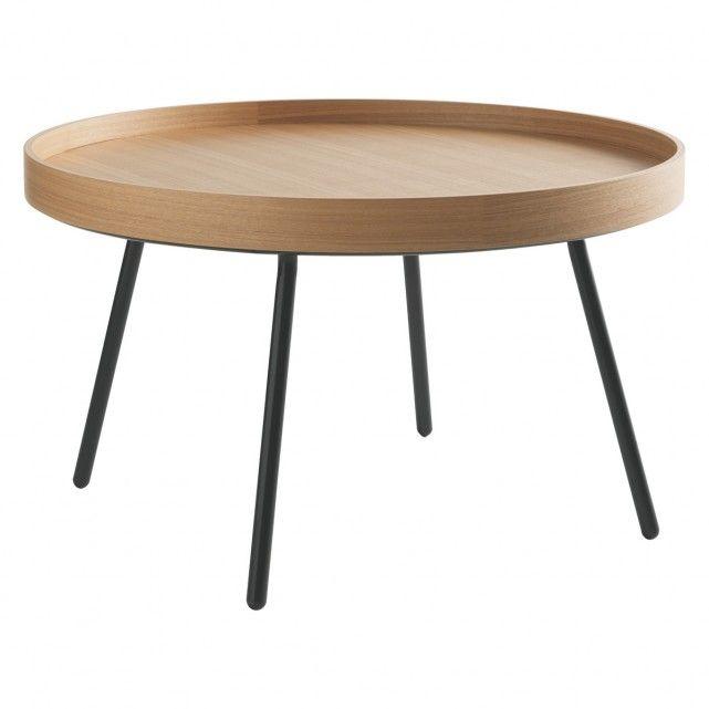 LARKE Round oak tray coffee table | Buy now at Habitat UK