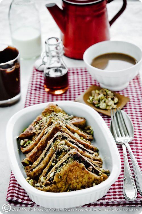 Chocolate pistachio french toast.
