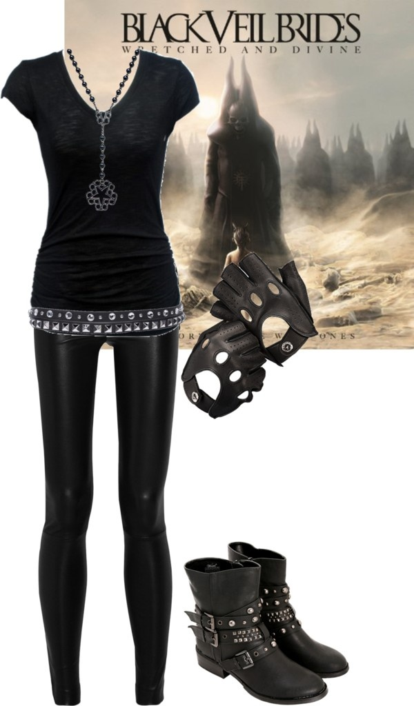 """New Year's Day"" by bvb3666 ❤ liked on Polyvore, I love the gloves, shoes and trousers."