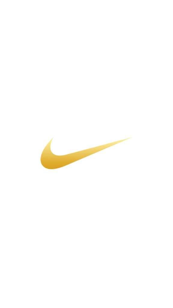 NIKE Logo Gold iPhone Wallpaper