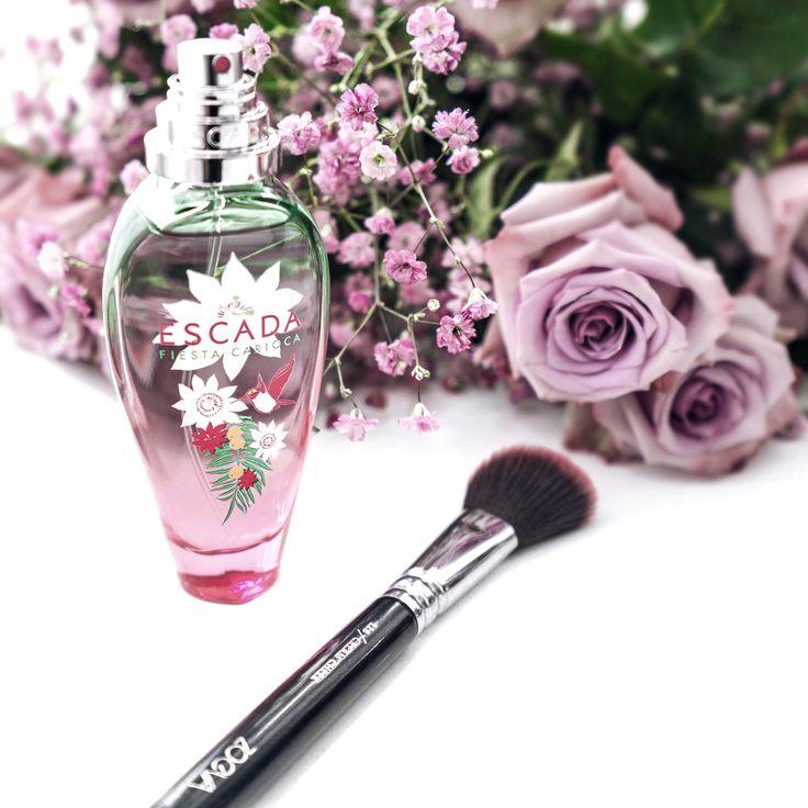 MakeUp Brush, Perfume, Flower.