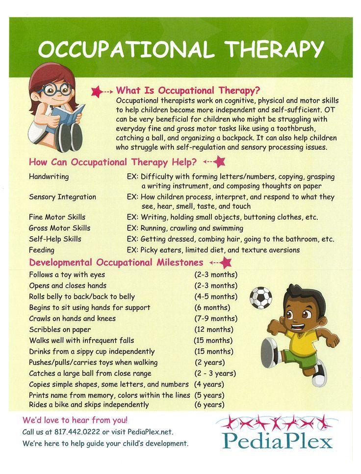 Pediatric occupational therapy dallas fort worth