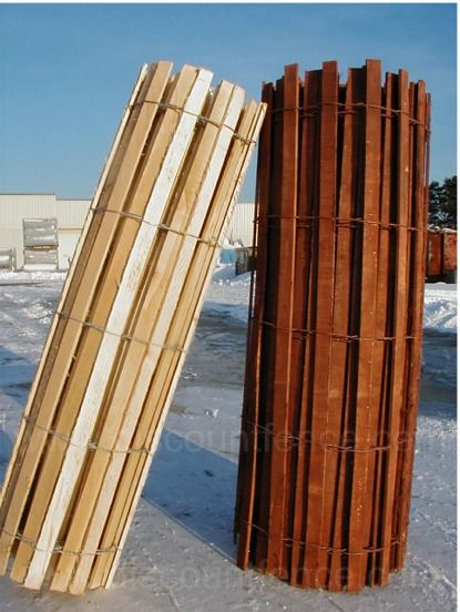 Wooden Snow Sand Fence To Be Headboard For The Under The
