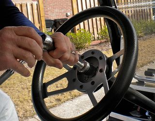 Change out your standard golf cart steering wheel for an upgraded and custom look and feel.