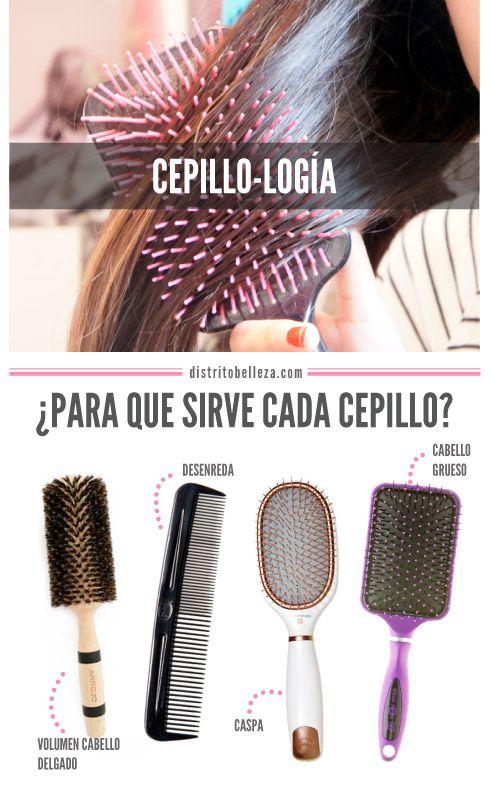 tipos de cepillos para cabello