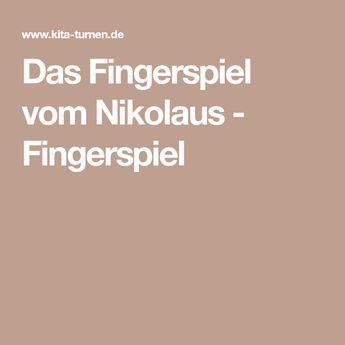 Das Fingerspiel vom Nikolaus - Fingerspiel