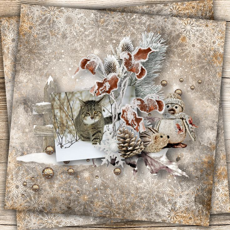 """""""The wonderful winter"""" by Xuxper Designs, http://www.digiscrapbooking.ch/shop/index.php?main_page=product_info&cPath=22_237&products_id=25531, photo Pixabay"""