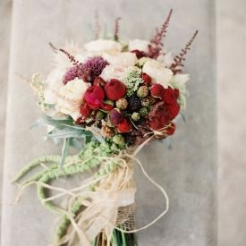 Airy and enchanting wedding inspiration in fresh green, crisp white, & rose red - inspired by Practical Magic! (Image by Laura Gordon)