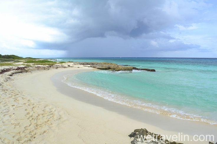 Пляж в Мексике. Курорт Плая Дель Кармен