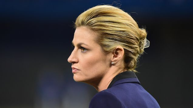 Fox broadcaster Erin Andrews took the stand today in the trial over her civil suit against the Nashville hotel where she was videotaped undressing through her hotel room peephole. In one of the most frightening bits of testimony in a case full of them, Andrews explained how ESPN—her employer at the time—forced her to discuss the issue on national television, against her will, before she was allowed to return to her broadcasting duties.