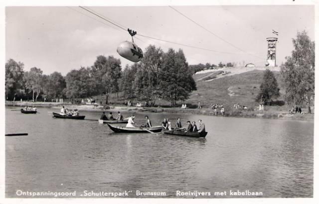 Schutterspark, Brunssum hier heeft pap menige zomer met ons en onze neefjes en nichtjes geroeid.