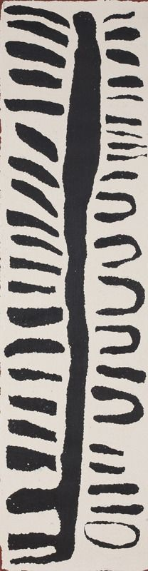 Untitled 87 x 28 cm, acrylic on Belgian linen, 2011 Papunya Tula Artists Catalog #JY1109148