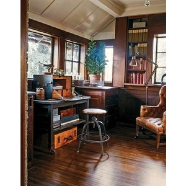 Small Home Office Ideas For Men And Women: 17 Best Images About Vintage Study On Pinterest