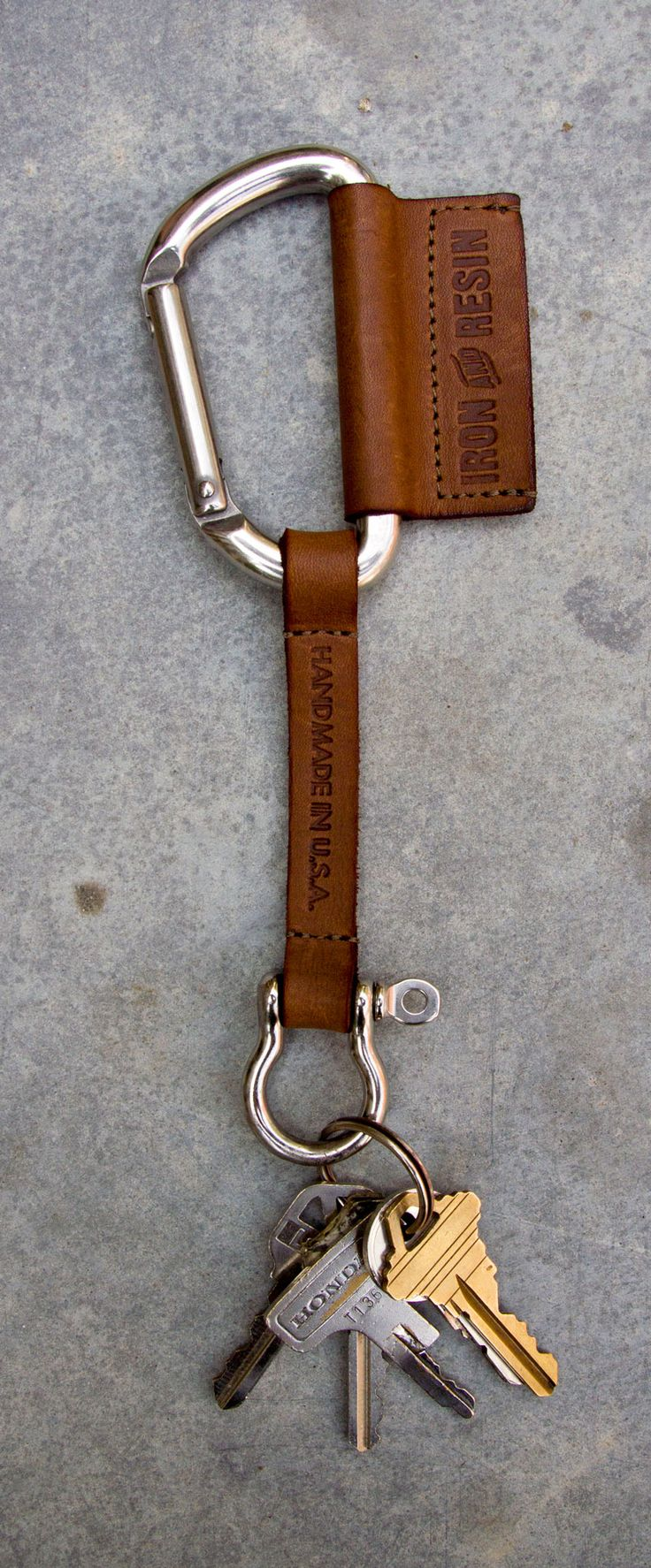 IRON & RESIN LEATHER KEY LANYARD. #ironandresin #InR #freedomriders - Crafting Now