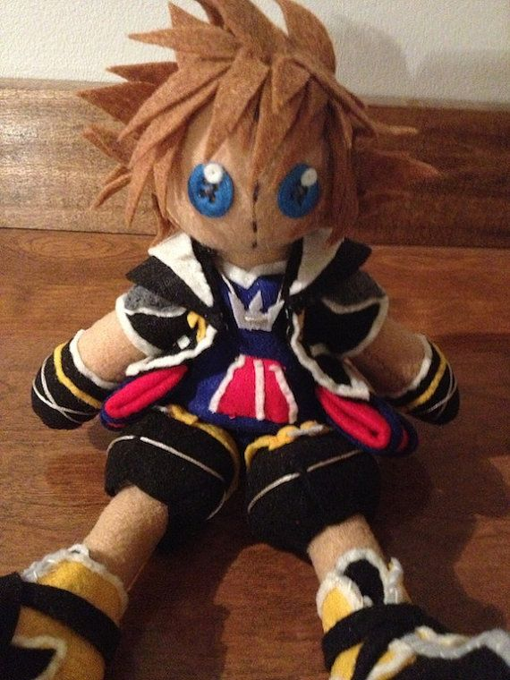 Kingdom Hearts Sora Plush by PatchworkSpookies on Etsy
