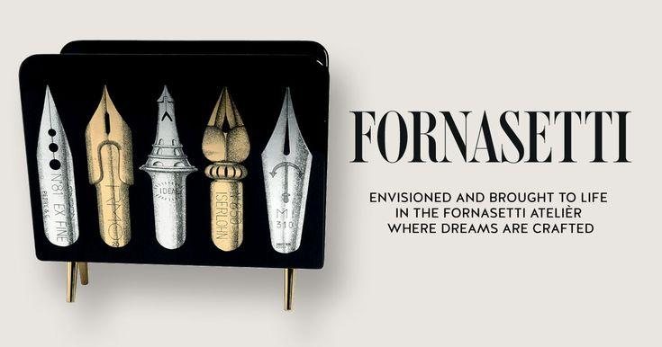 Magazine Rack Pennini On Black by Fornasetti.