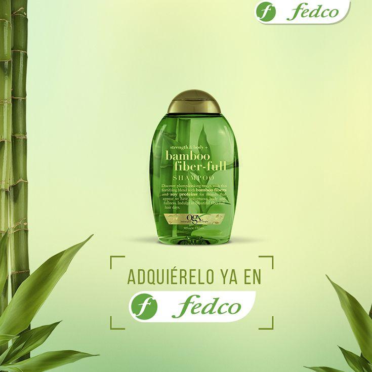 Shampoo Fibra Bamboo. ¡Nuevo para 2016! Siéntete la reina de la selva con esta inyección de energía para tu cabello. Un aroma fresco y exótico que combina fibras de bambú con proteínas de soya para dar a tu cabello una apariencia más abundante y voluminosa.