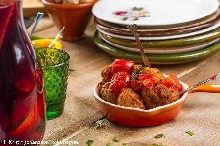 Recept - Albondigas. Köttbullar med vitlökssting. #tapas #albondigas