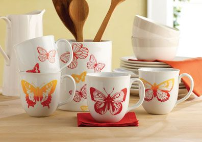Craft Painting - Silkscreened Butterfly Cups