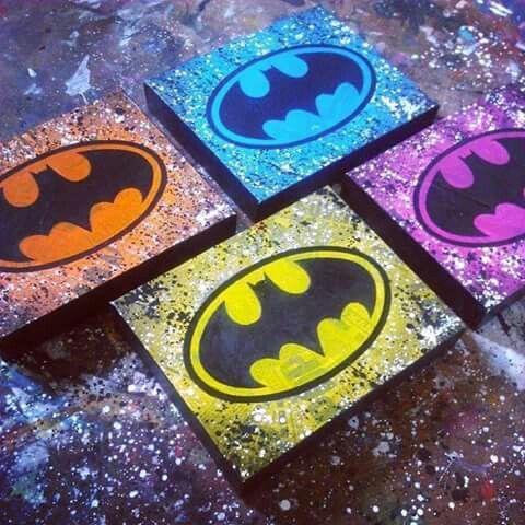 Batman splatter paint