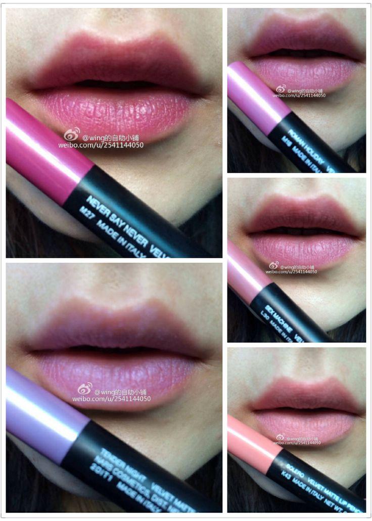 Velvet Matte Swatches: Nars Velvet Matte Lip Pencil Swatch