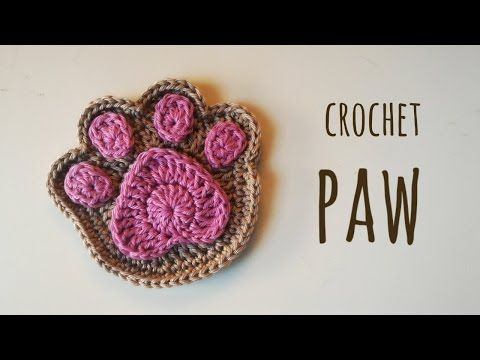 ▶ How to crochet a super cute paw - YouTube
