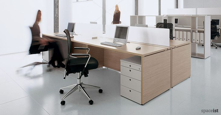 The XL desk has a solid front panel and end panel allowing a closed off, clean appearance and all cabling is housed in a built in cable trough which can be accessed with a simple hinged door. Description from spaceist.co.uk. I searched for this on bing.com/images
