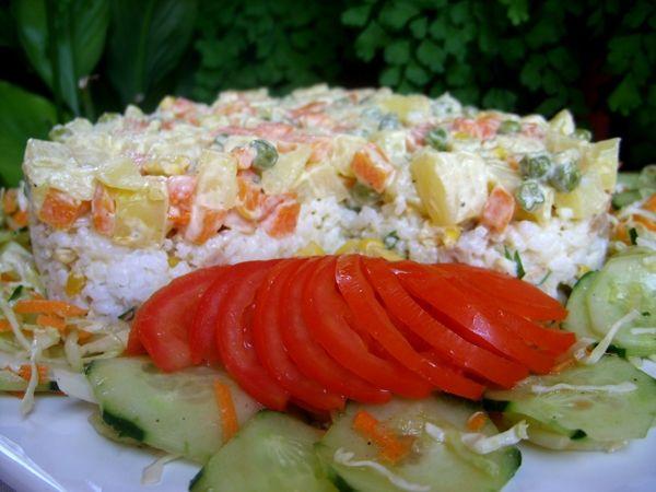 recette Salade de riz au thon et légumes : Recette salade, Cuisine Femme Zoom, Recettes de cuisine ...