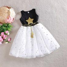 Niños Niños Chicas Vestido de Una Pieza Estrellas Lentejuelas Arco Del Vestido Del Tutú de Tul(China (Mainland))