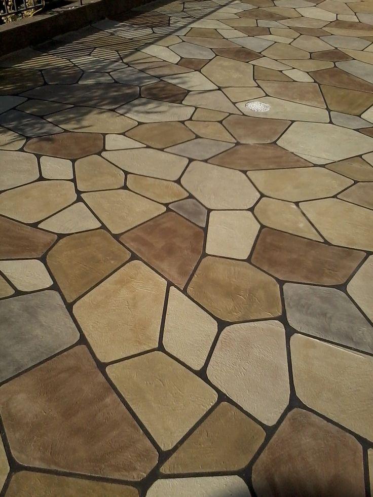 Decorative Flagstone Overlay In Knoxville, Iowa   Decorative Concrete  Kingdom. Repin U0026 Click For