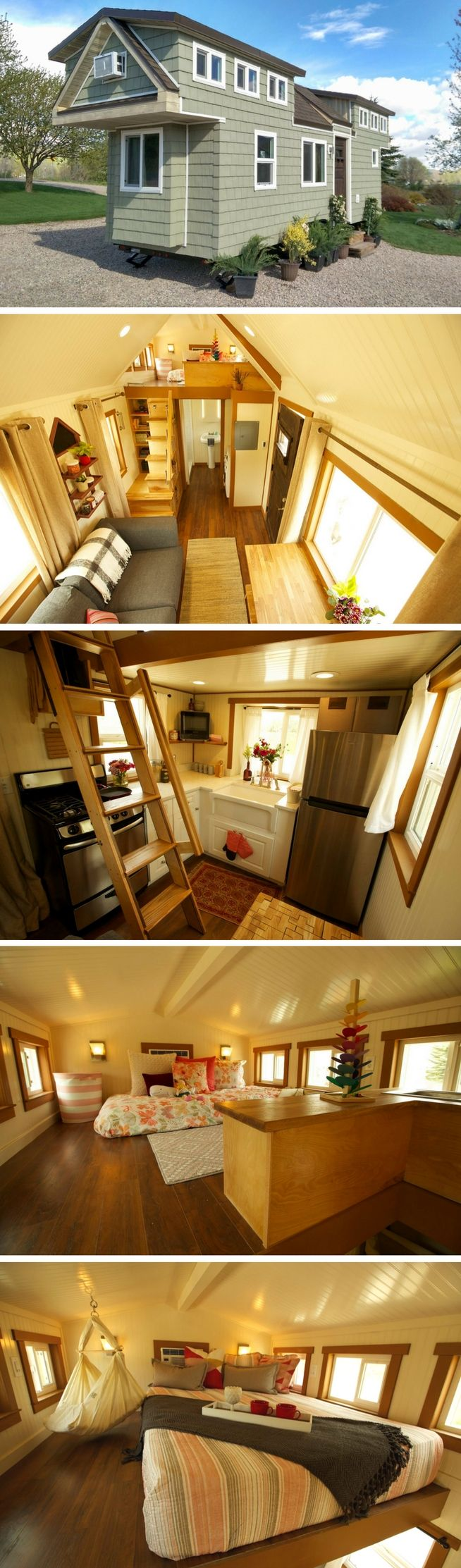 A Beautiful 200 Sq Ft Tiny House On Wheels, Built For A Family Of 4